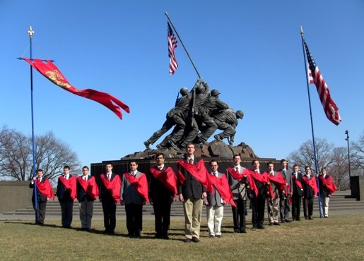 TFP Members Honor American Military heroes at Iwo Jima Memorial