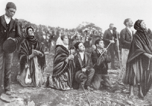 Miracle of the Sun in Fatima Portugal where Our Lady appeared, asking for conversion, penance, reparation and sacrifice