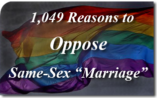 1,049 Reasons to Oppose Same-Sex &#8220;Marriage&#8221;
