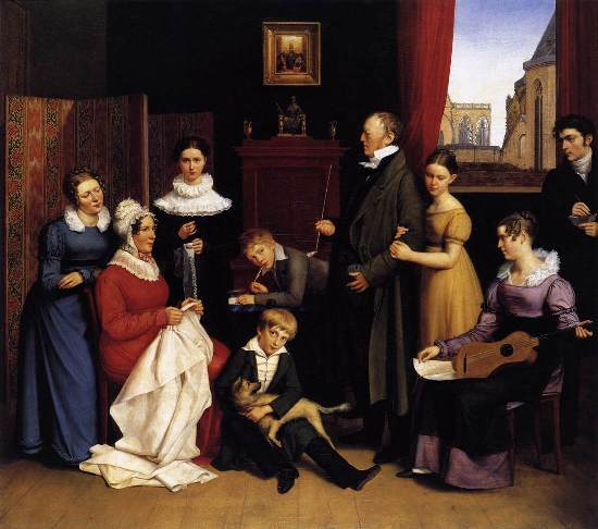 The Begas Family by BEGAS, Carl the Elder