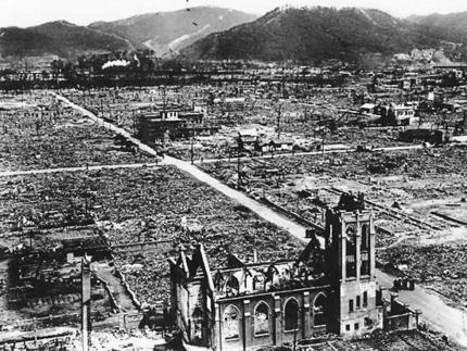 Hiroshima leveled after Atomic Bomb
