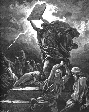 Moses with tablets of the Ten Commandments