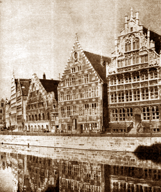 Guild offices in Ghent, Belgium