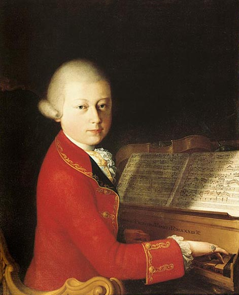 Wolfgang Amadeus Mozart (age 14) in Verona, by Saverio dalla Rosa