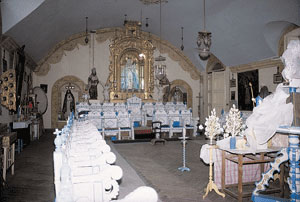 The upper choir of the Convent, where the nuns sing the DIvine Office