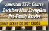 American TFP: Court's Decisions Must Strengthen Pro-Family Resolve