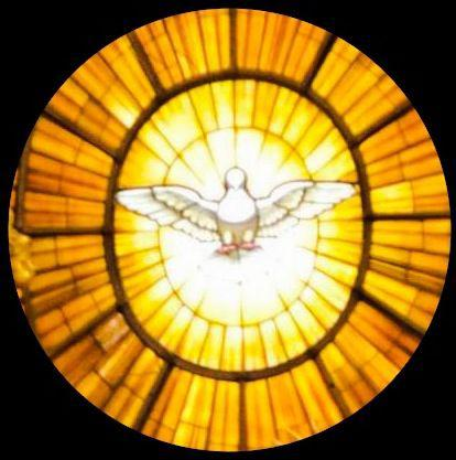 Holy Ghost stained glass window