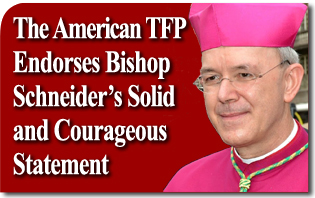 Communiqué American TFP Endorses Bishop Athanasius Schneider's Solid and Courageous Statement on the Synod