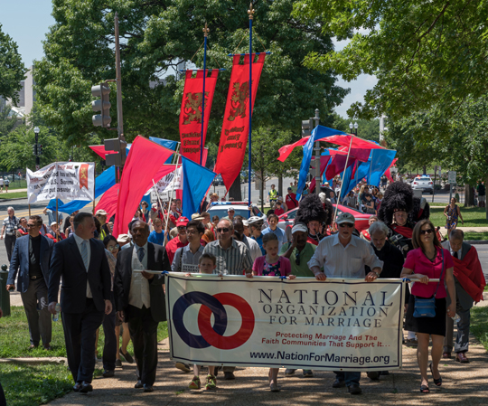 March for Marriage 2016 marches up Capitol Hill to the Supreme Court