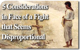 Five Considerations in Face of a Fight that Seems Disproportional