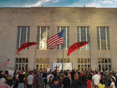 Oklahoma City Civic Center Music Hall, site of the 2014 sacriligous black mass