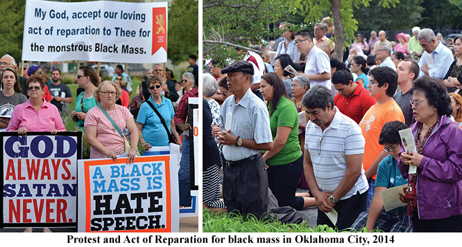 Oklahoma City Civic Center Protest and Act of Reparation for black mass in 2014