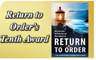 'Return to Order' Earns Tenth Award: Underscores Book's Broad Appeal