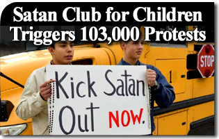 Satan Club for Children Triggers 103,000 Protests