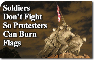 Soldiers Don't Fight So Protesters Can Burn Flags