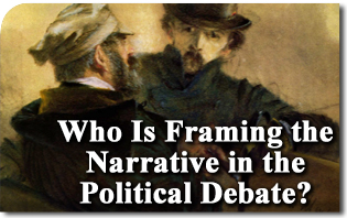 Who Is Framing the Narrative in the Political Debate?