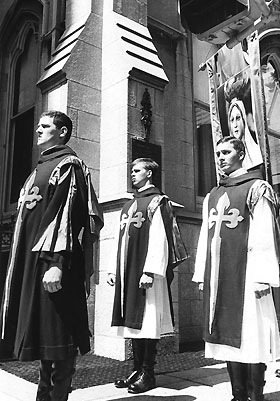 August 26, 1978: the TFP ceremonial habit was worn on Fifth Avenue in New York City for the first time.