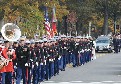 The Funeral Procession for Col. John W. Ripley, USMC