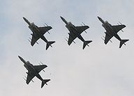 Harrier fly-over honoring Colonel John W. Ripley in death