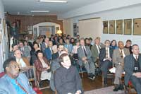 A crowd of over 80 gathered for an evening of conversation and thought at the TFP Washington Bureau.