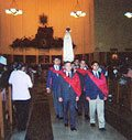 TFP honor guard at a pilgrimage.