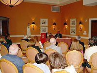 TFP Washington Bureau Chief Mario Navarro da Costa addresses an audience at the Coral Gables Country Club.