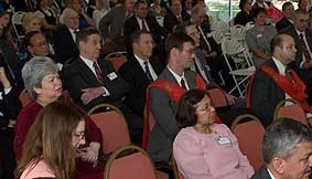 The attendees payed close attention to the talks.