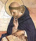Saint Dominic received the Rosary from Our Lady in 1214