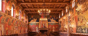 The Great Hall. Two Italian artists spent a year and a half painting the frescoed walls.