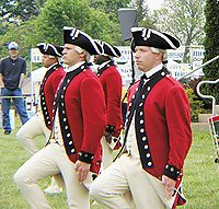 The Old Guard demonstrated razor-sharp precision in their formations and movements which betrayed their military background.