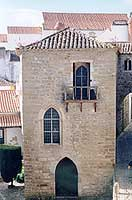 A typical medieval building in Obidos, Portugal