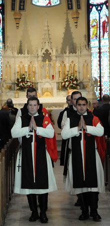 TFP members in ceremonial habit for the Conference Mass.