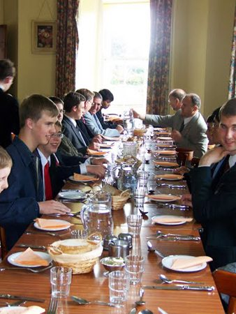 The meals and general program were held in the monastery guesthouse.