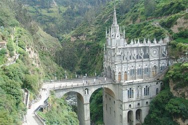 Basilica dedicated to Our Lady of Las Lajas