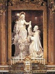 2010_St._Simon_Stock_receives_the_Scapular Ever Wonder About the Origins of Our Lady of Mount Carmel