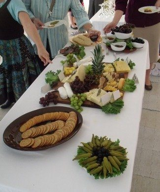 Wine, cheese, pastries, and other delicacies, many of them provided by TFP friends and supporters, fed soul and body.