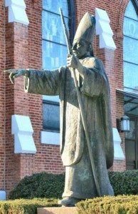 Statue of Cardinal Mindszenty at the Church of St. Ladislas, New Jersey