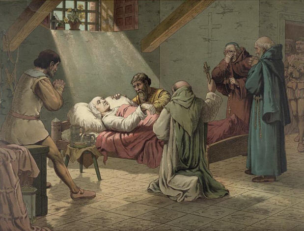 Christopher Columbus on his death bed