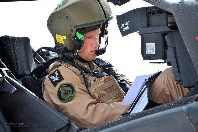 Prince Harry of Wales training as an Apache pilot in the United States