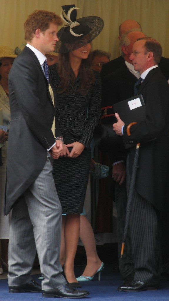 Prince Harry with Kate Middleton at the 2008 procession of the Order of the Garter