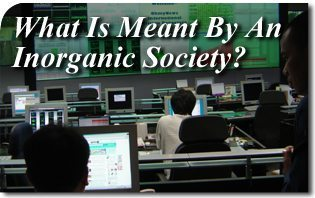 What Is Meant By An Inorganic Society?