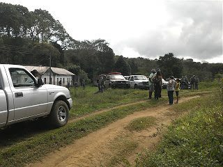 Police on the Scene of a Farm Invasion