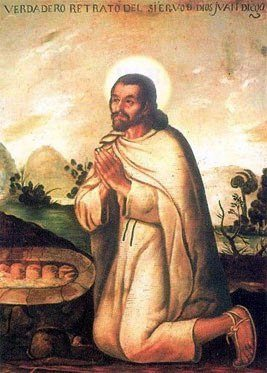 2015_Saint_Juan_Diego_Kneeling Our Lady of Guadalupe: She Who Smashes the Serpent
