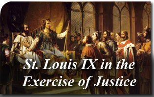 2013_St_Louis_IX_exercises_justice Saint Louis IX in the Exercise of Justice