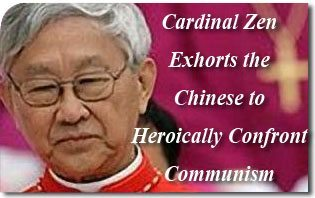 2014_Cardinal_zen Cardinal Zen Exhorts the Chinese to Heroically Confront Communism
