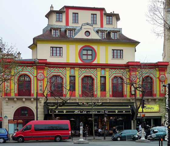 Among the various places targeted by the Islamic terrorists in the Paris attacks, was the Bataclan theater, where an American rock band, the Eagles of Death Metal, was performing. Photo credit: Bataclan theater, Paris, France by jxandreani, taken Apr.3, 2009. Licensed under cc-by-2.0.