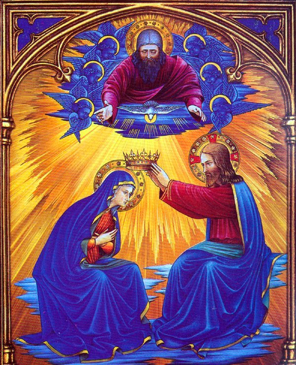 Coronation of Our Lady, Queen of Heaven and Earth, model of true humility, love of God