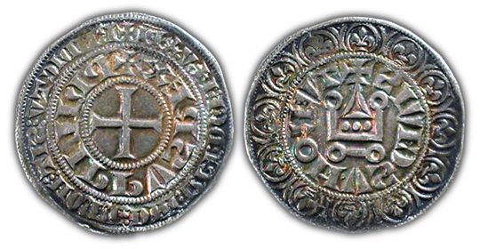 The gros tournois coin was born of prosperity. Introduced in 1266, this medieval silver coin, worth 12 denier, provided the added value needed to favor France's expanding economy.