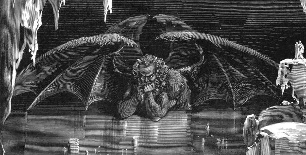 "At the moment the Islamic terrorists began the Bataclan massacre, the Eagles of Death Metal band were beginning to play the satanic song Kiss the Devil,which continually repeats: Who'll love the devil? Who'll kiss the devil? Who'll sing his song?… Photo: ""Lucifer, King of Hell"" engraving by Gustave Doré illustrating Canto XXXIV of Divine Comedy, Inferno."