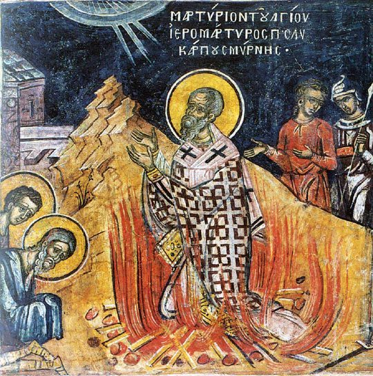 Saint Polycarp Martyrdom Courage Play the Man